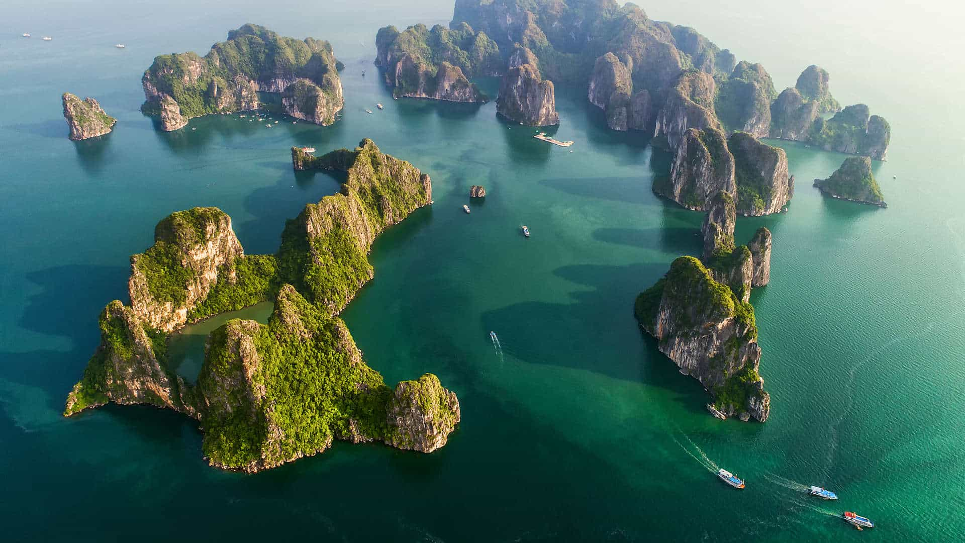 Halong Bay Vietnam aereal view