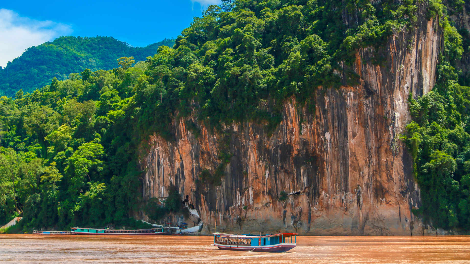 Pak Ou Cave Mekong River Laos