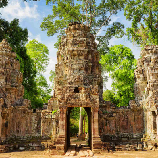 Preah Khan temple in Angkor, Siem Reap