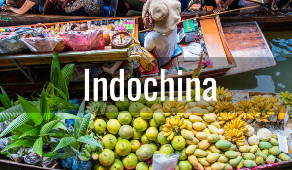 Travel Destination Indochina - Bangkok floating market