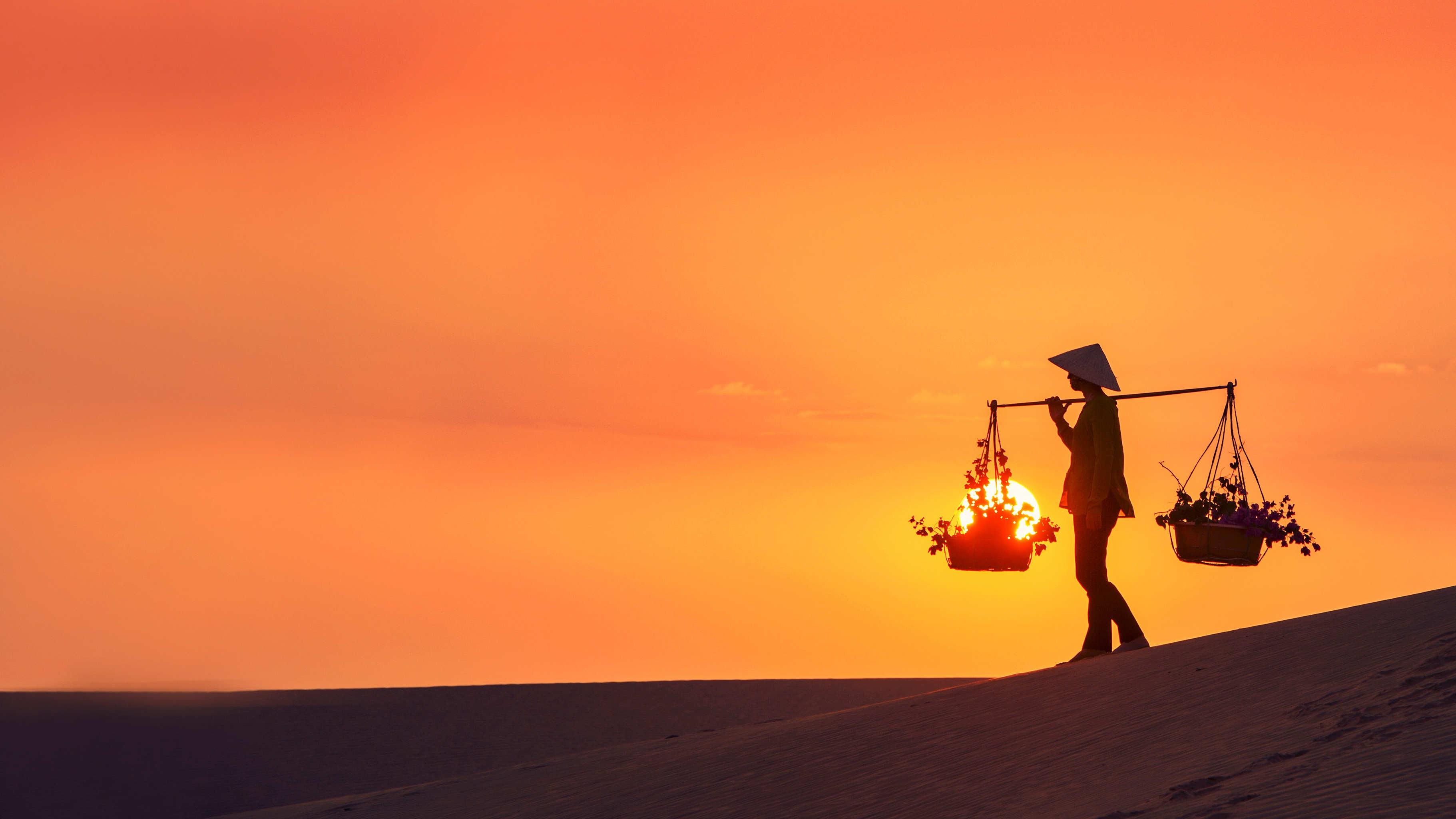 Südvietnam Sanddünen Sonnenuntergang