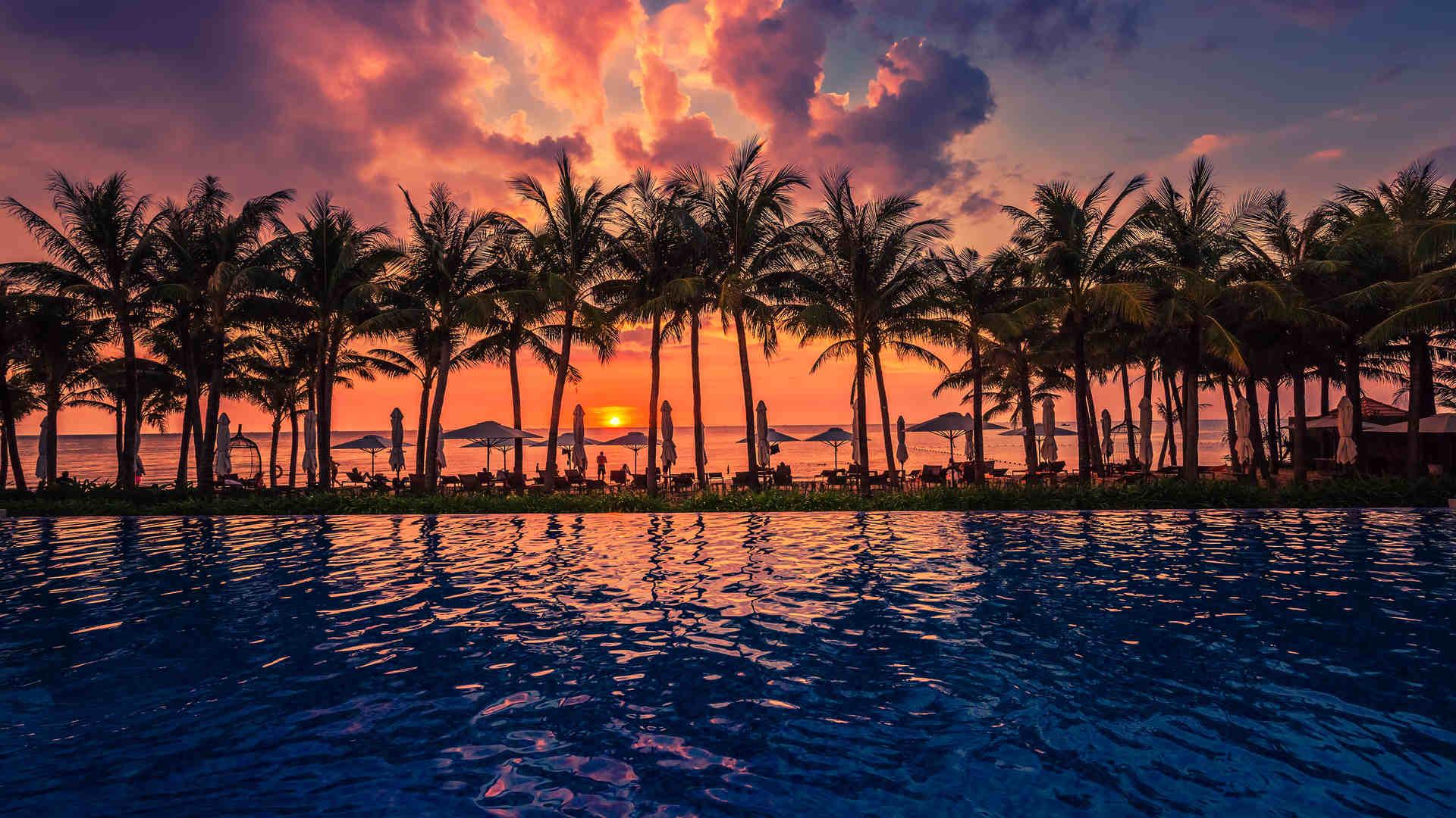 Phu Quoc Vietnam sunset over beach